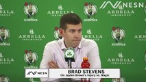 Brad Stevens Gives Brief Update On  Jaylen Brown's Ankle