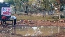 भोपाल मध्य प्रदेश मेला मेला महोत्सव में लगी प्याऊ के आसपास जलभराव