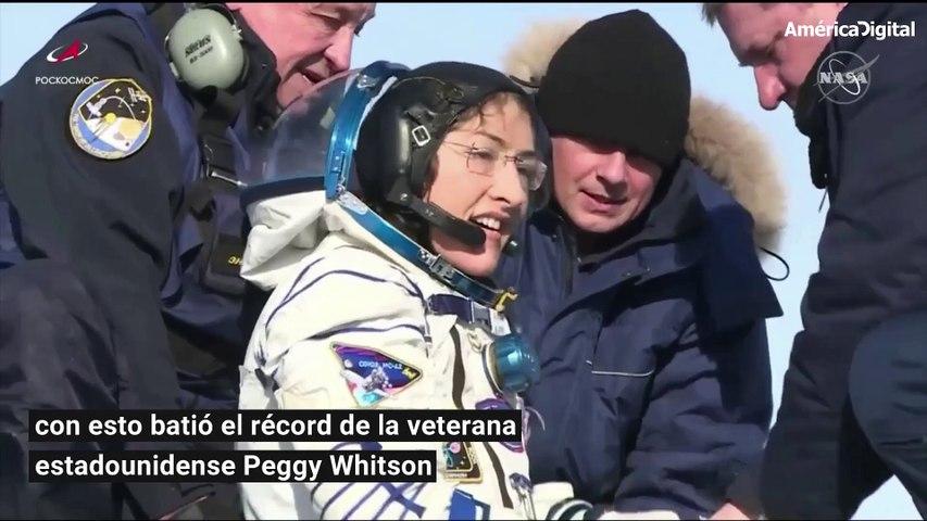 Christina Koch, la astronauta que regresó a la Tierra tras permanecer 11 meses en el espacio