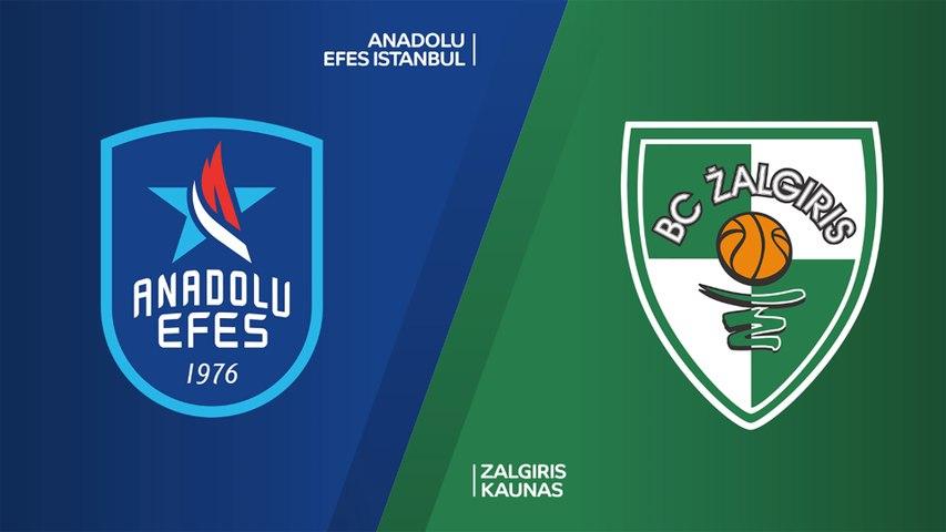 Anadolu Efes Istanbul - Zalgiris Kaunas Highlights | Turkish Airlines EuroLeague, RS Round 24