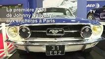 Vente aux enchères de la Ford Mustang de Johnny Hallyday à Paris