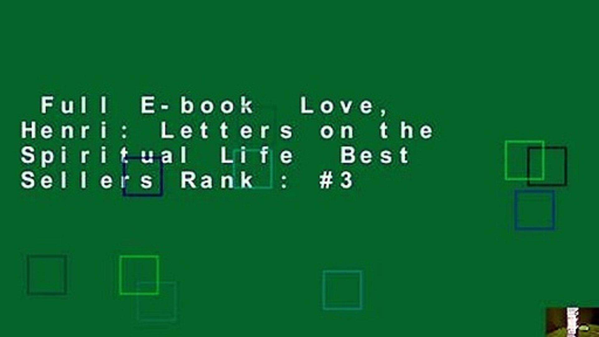 Full E-book  Love, Henri: Letters on the Spiritual Life  Best Sellers Rank : #3