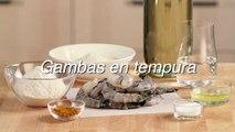 Receta de gambas en tempura