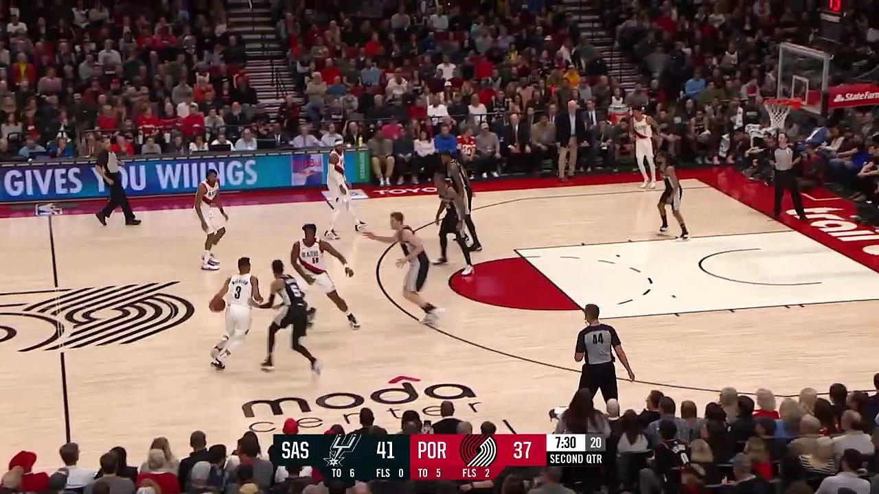 San Antonio Spurs 117 - 125 Portland Trail Blazers