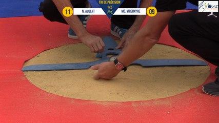 Tir de précision N. AUBERT vs MC VIREBAYRE demi-finale Nyons pétanque 2019