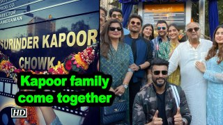Kapoor family come together to unveil chowk named after Anil Kapoor father