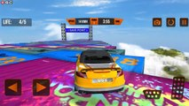 "Vertical Mega Ramp Impossible Car Stunts ""LV9 12"" Extreme Car Stunt Car Driver Android GamePlay #3"