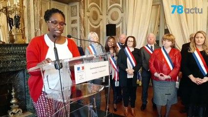Sibeth_Ndiaye à Versailles