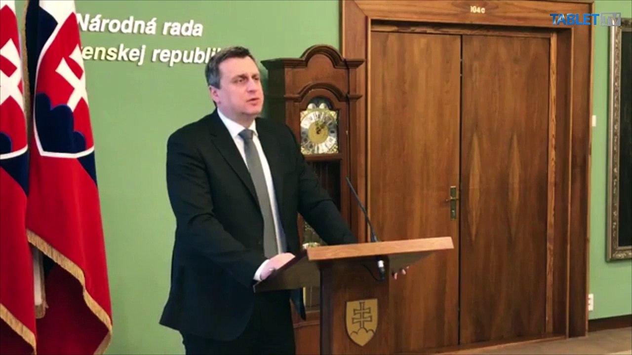 ZÁZNAM: Brífing predsedu Národnej rady SR Andreja Danka