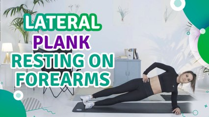 Lateral plank resting on forearms - Fit People