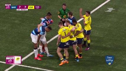 L'arbitrage du Rugby à 7 lors de l'In Extenso Supervens de Paris la Défense Arena