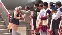 Watch: PM Modi arrives in Assam to celebrate signing of Bodo agreement