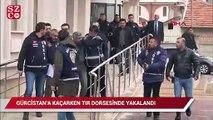 Gürcistan'a kaçan cinayet zanlısı, TIR'ın dorsesinin gizli bölümünde yakalandı