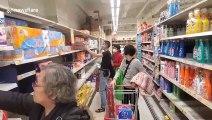 "Hong Kong residents ""panic buy"" toilet paper amid coronavirus fears"