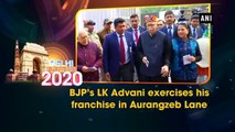 BJP's LK Advani exercises his franchise in Aurangzeb Lane