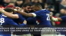 RUGBY : Six Nations : 2e j. - France-Italie en chiffres