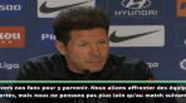 """23e j. - Simeone : """"Jouer chaque match comme s'il s'agissait d'une finale"""""""