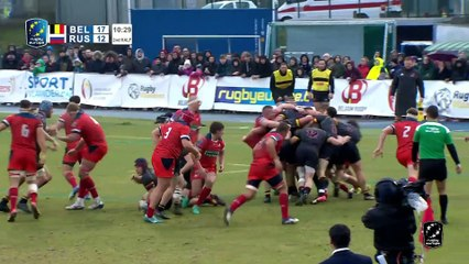HIGHLIGHTS - BELGIUM / RUSSIA - RUGBY EUROPE CHAMPIONSHIP 2020
