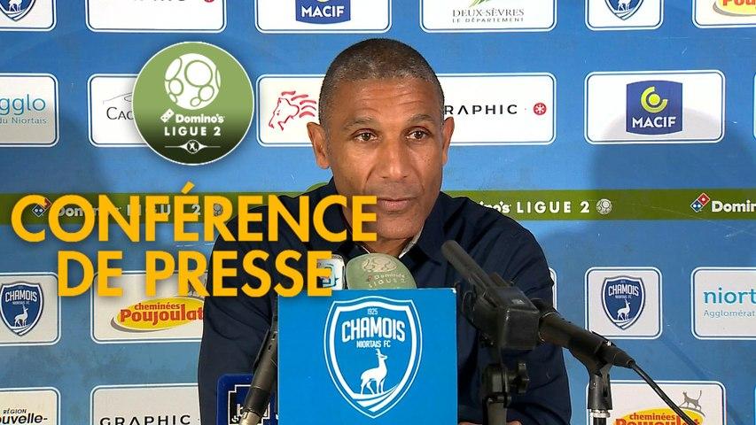 Conférence de presse Chamois Niortais - US Orléans (2-0) : Franck PASSI (CNFC) - Didier OLLE-NICOLLE (USO) - 2019/2020