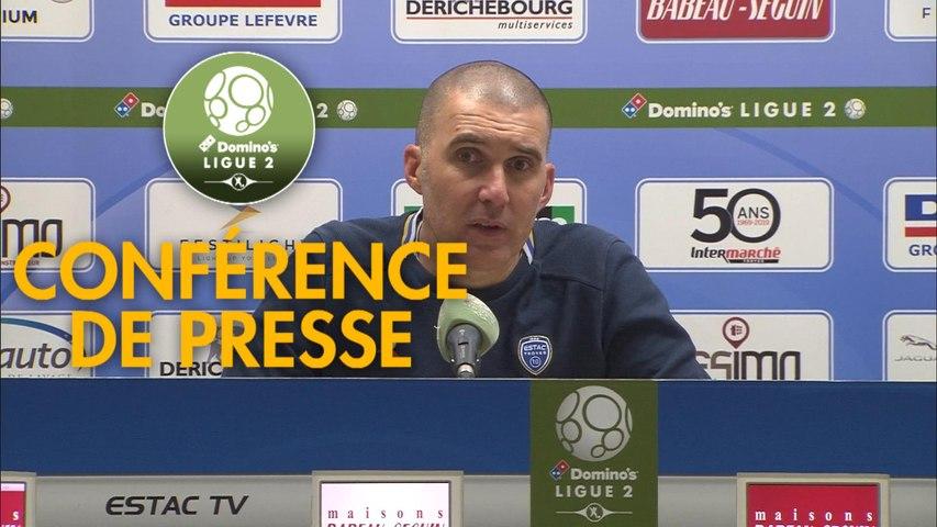 Conférence de presse ESTAC Troyes - Châteauroux (2-0) : Laurent BATLLES (ESTAC) - Nicolas USAI (LBC) - 2019/2020