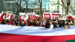 Rally supports Polish government's controversial justice reforms
