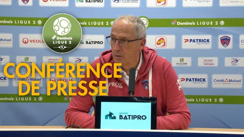 Conférence de presse Clermont Foot - Valenciennes FC (3-1) : Pascal GASTIEN (CF63) - Olivier GUEGAN (VAFC) - 2019/2020