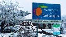 Snow spreads through the Peach State
