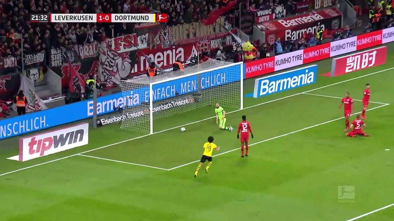 Bayer Leverkusen - Borussia Dortmund (4-3) - Maç Özeti - Bundesliga 2019/20