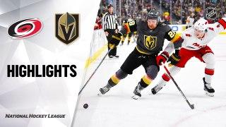 NHL Highlights | Hurricanes @ Golden Knights 2/08/20