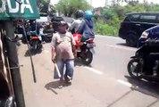 Situasi Pertigaan Jl. Pemuda - Jl. Muchtar Raya, Sawangan