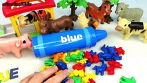 BEA Toy Kids - Learn Color For Children with Blue Farm Animals and Animal Planet Toys for Kids