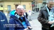 Le parole dei tifosi della Lazio fuori dal Tardini