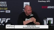 Dana White on honoring Kobe Bryant