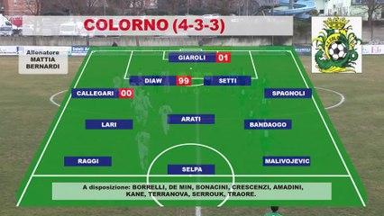 Colorno - Arcetana 2-2, highlights e interviste