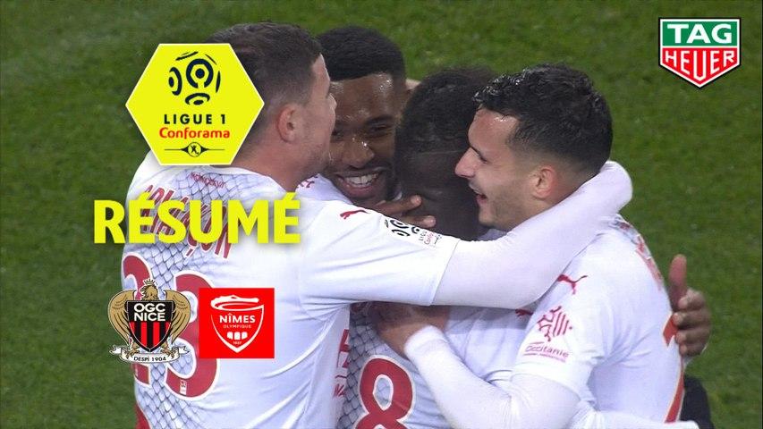 OGC Nice - Nîmes Olympique (1-3)  - Résumé - (OGCN-NIMES) / 2019-20
