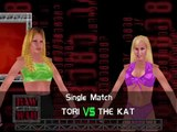 WWF No Mercy 2.0 Mod Matches Tori vs The Kat