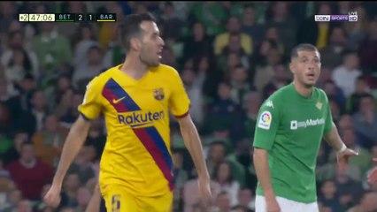 Real Betis 2-2 Barcelona - GOAL: Sergio Busquets