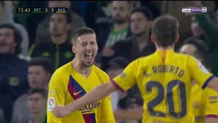 Real Betis 2-3 Barcelona - GOAL: Lenglet