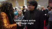 'Parasite' director talks film's success on Oscars red carpet