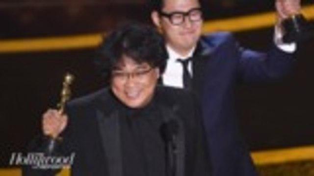Bong Joon Ho's 'Parasite' Makes History as First South Korean Film to Win an Oscar   THR News