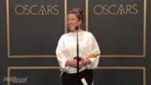 Jacqueline Durran Discusses Best Costume Design Win For 'Little Women' Backstage at Oscars 2020