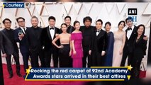 'Men in Black' arrive in style on 92nd Academy Awards red carpet