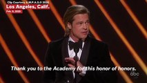 Oscars 2020: Brad Pitt Says His 45-Second Speech Is '45 Seconds More' Than John Bolton Got At Trump Impeachment Trial
