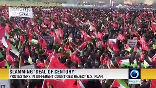 Protesters in different countries reject US 'deal of the century'
