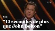Aux Oscars, Brad Pitt s'offre une blague sur le procès en destitution de Trump au Sénat américain
