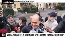 """Coronavirus, Zingaretti allo Spallanzani: """"Grazie a medici e operatori""""   Notizie.it"""
