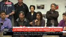 """La famille de Sophie le Tan s'exprime: """"Nous voudrions que le coupable assume ses actes. Nous avons besoin de connaître toute la vérité"""""""