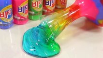 Slime Glue Colors Glitter Circle Water Balloons DIY Real Play Learn Colors Jelly Slime