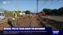 Aucun train ne circulera entre Toulouse et Montpellier ou entre Perpignan et Montpellier avant la fin novembre à cause des intempéries