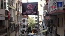 İzmir mahalle sakinlerinden korna sesine afişli çözüm